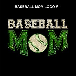 Baseball Mom #1 - Green/Pink