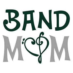 #2 Band Mom Treb/Base/Heart